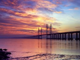 Sunrise, The Second Severn Crossing.