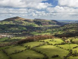 Suger Loaf and Skirrid, March 2012.