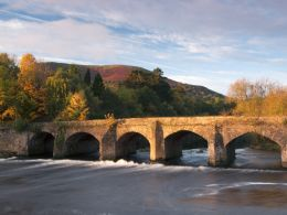 Usk Bridge and Blorenge, Abergavenny.