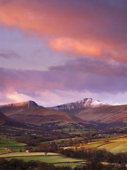 Winter sunrise, Pen y Fan and Cribyn.