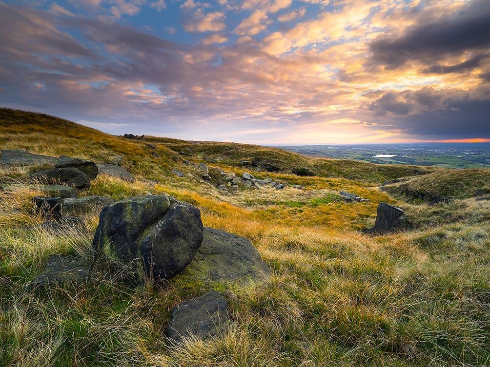 Pink Sky On Blackstone Moor