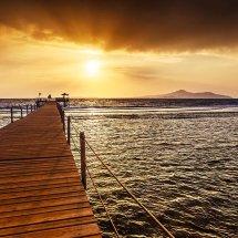 Egyptian Pier At Sunset I