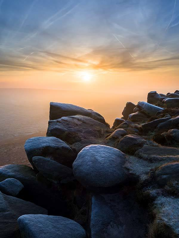 Higger Tor Misty Sunrise