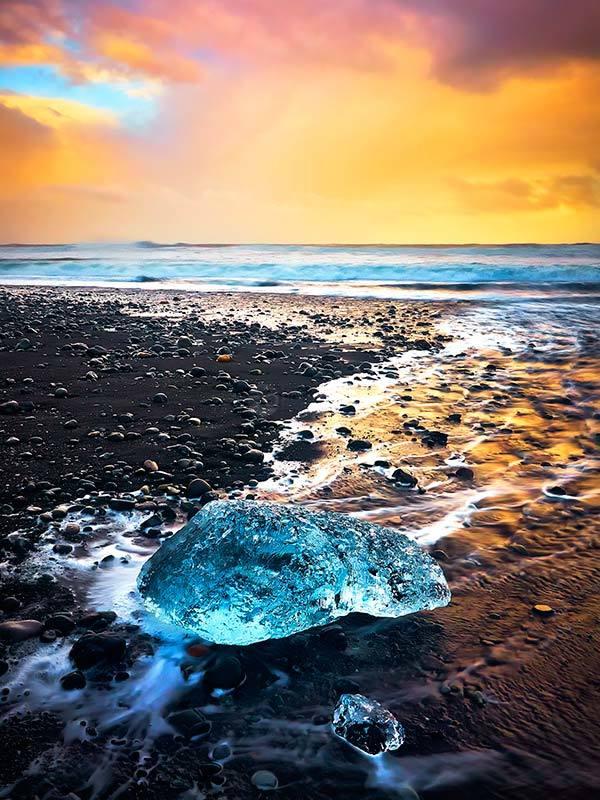 Ice Jewel At Sunset
