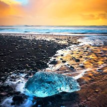 Ice Jewel At Sunset
