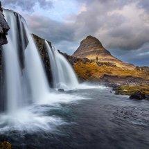 Cascading Kirkjufoss-Iceland