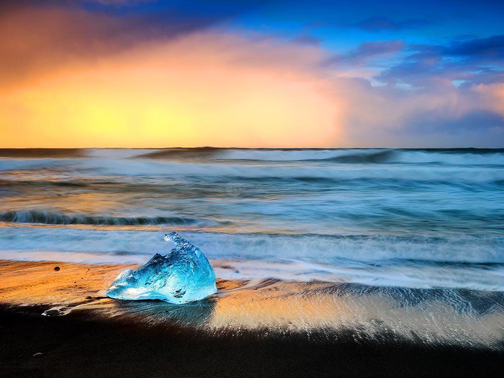 Blue Ice Black Beach