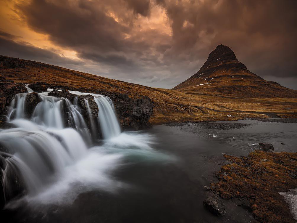 Dusk Over Kirkjufoss