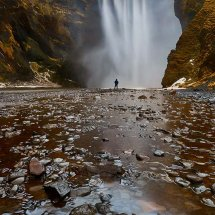 Misty Falls II-Iceland