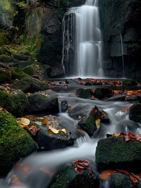 Lumsdale Autumn Falls