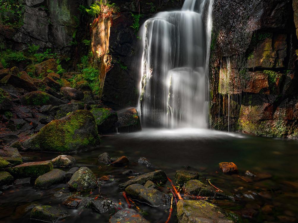 Light On Lumsdale Falls