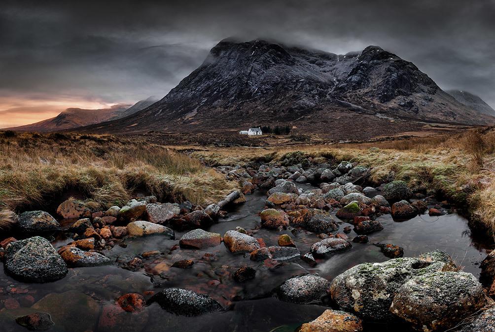 White Hut At Dawn