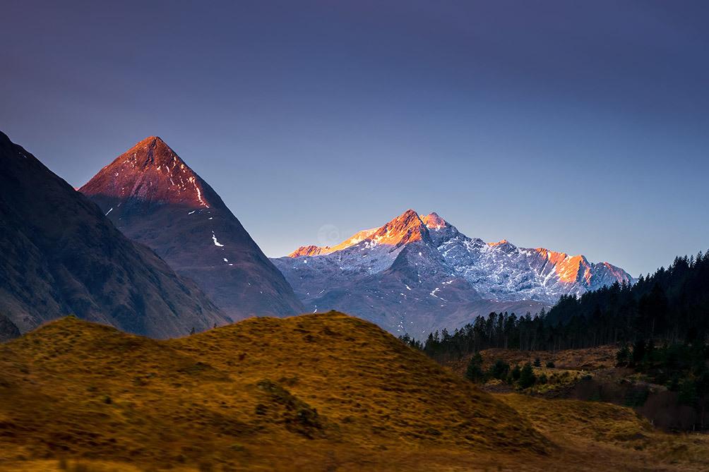 Glencoe Mountain First Light