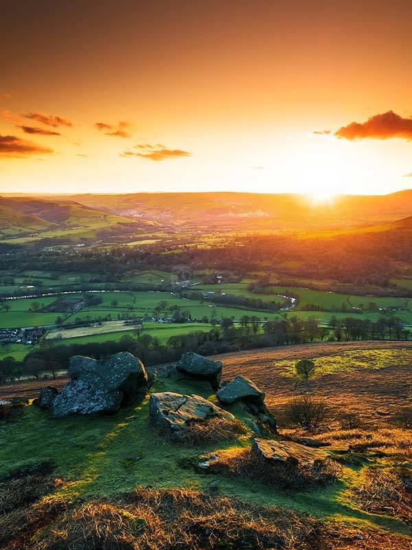 Bamford Edge Orange Sunset