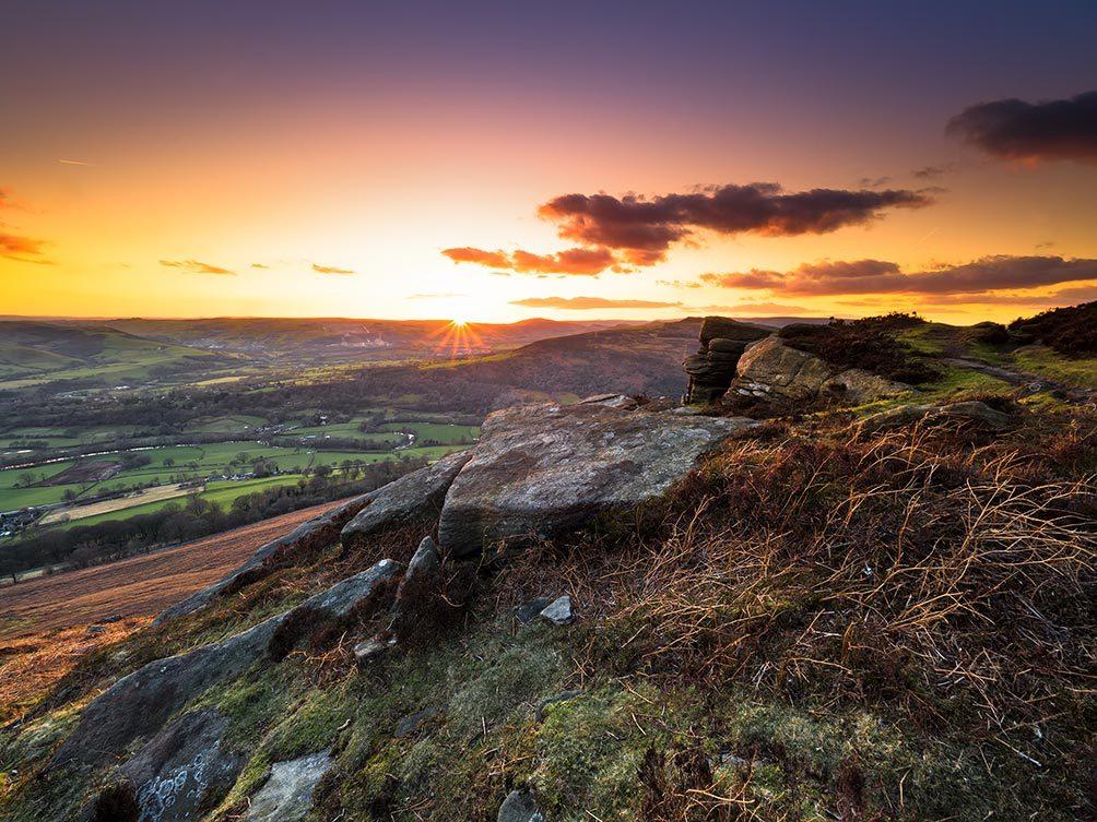 Bamford Edge Autumn Sunset Phil Norton Photography