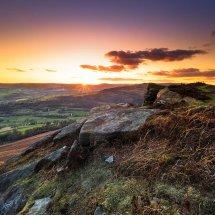 Bamford Edge Autumn Sunset