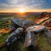 Curbar Millstone Sunset