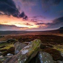 Blazing Sky Over Carl Wark