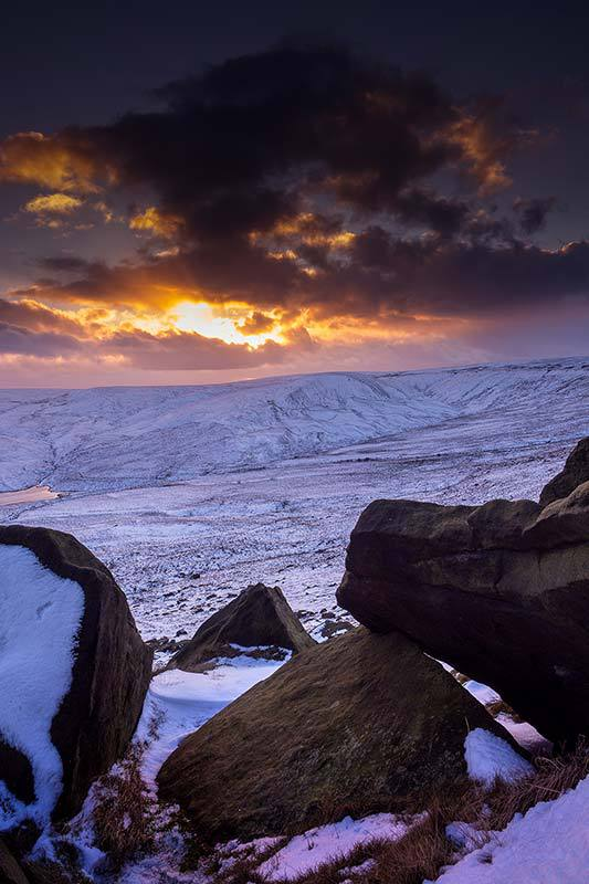 Winter Sunset-Marsden Moor