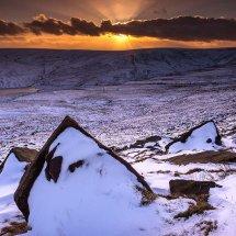 Winter Sunset 2-Marsden Moor