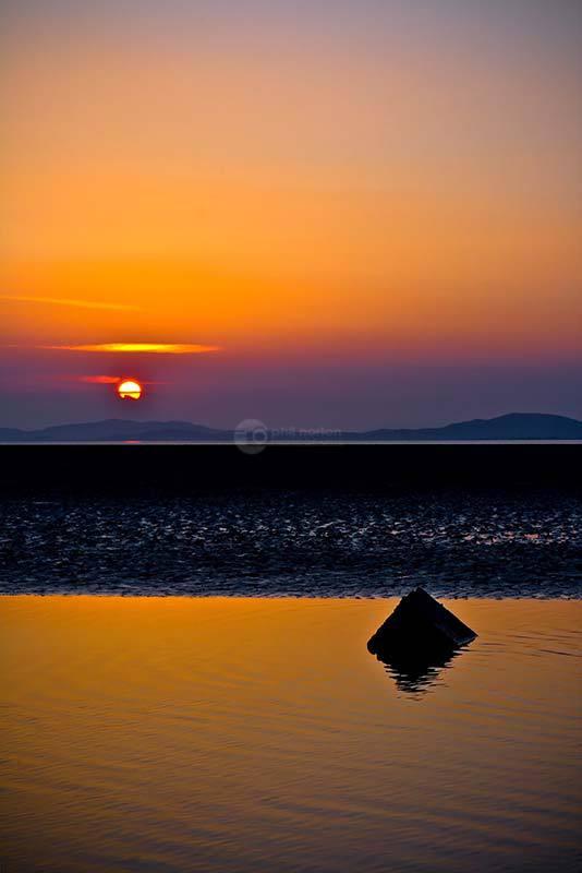 Orange Sun Over Criffel