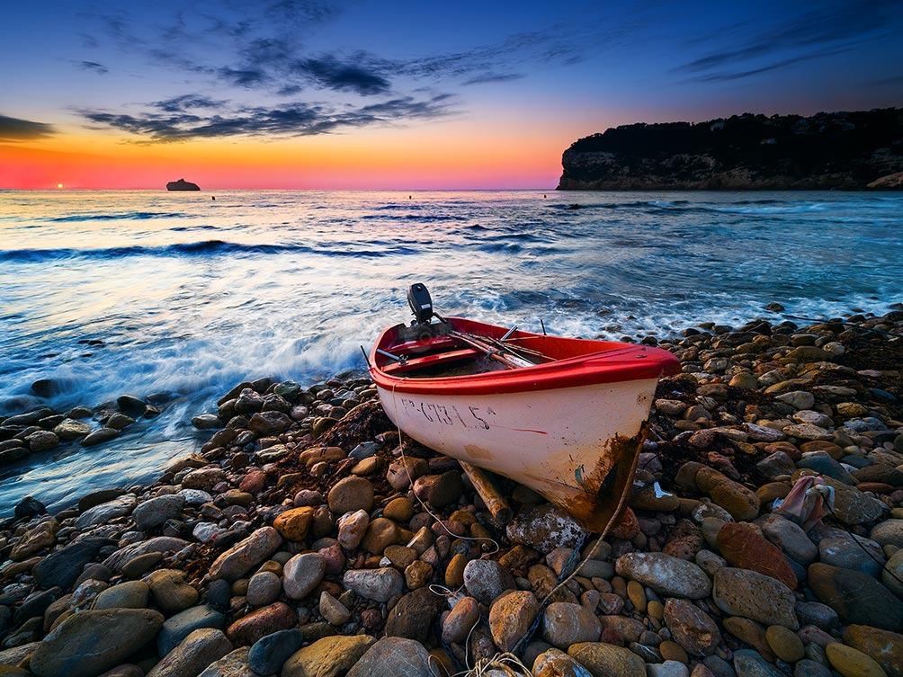 Boat At Sunrise-Spain IV