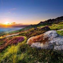 Stanage Summer Sunset