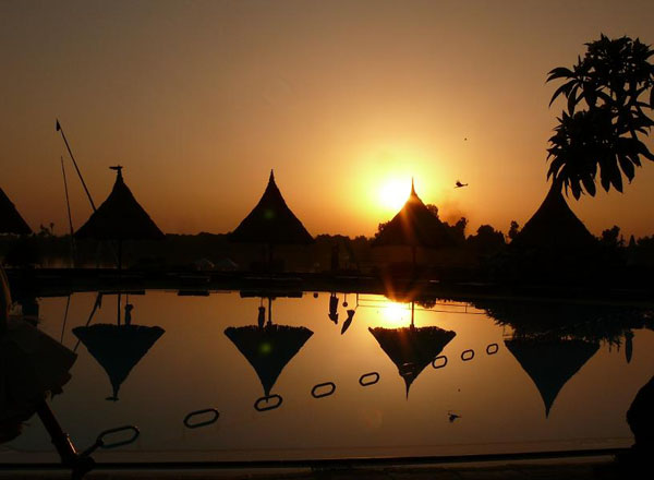 Sunset at Movenpick Jolie Ville, Luxor