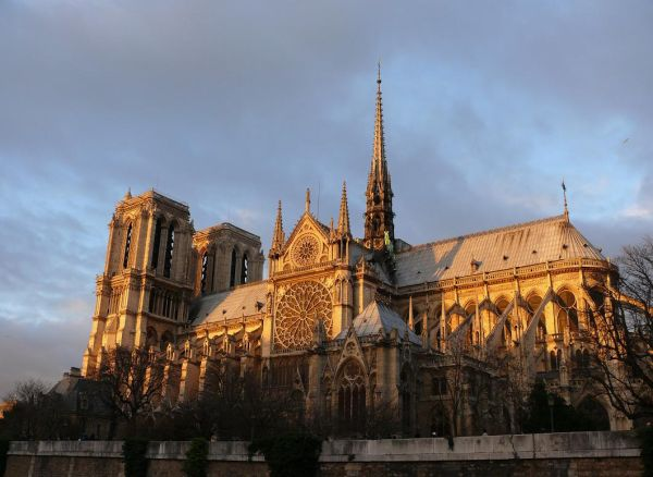 Notre Dame at Sunset