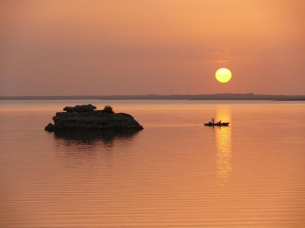 Sunset on Lake Nasser
