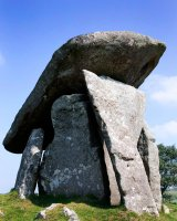Trethevy Quoit, Cornwall No.1, ancient burial chamber.