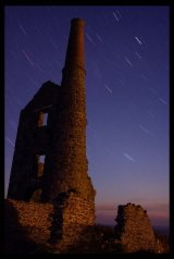 Nightscape: Carn Galver mine. Limited Edition Giclée print.