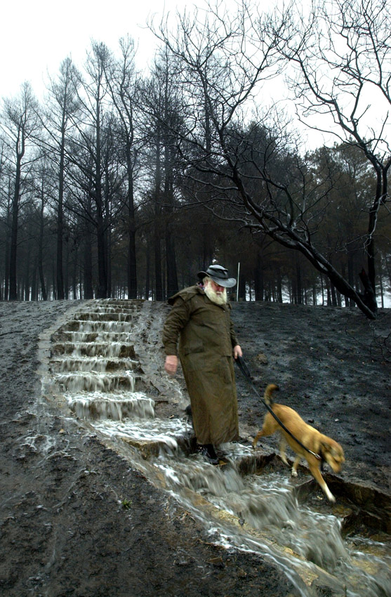 The 2003 Canberra Fire...The first rain