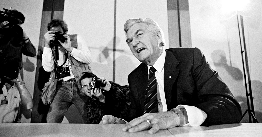 Bob Hawke and the media, Canberra