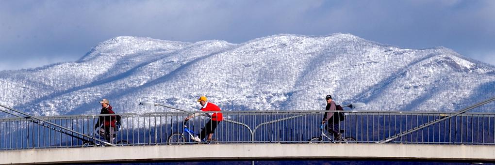 The Brindabellas in winter.