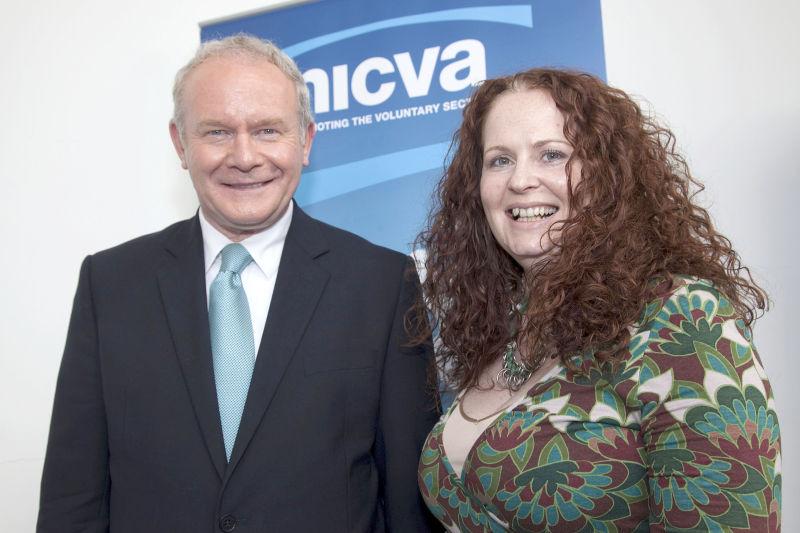 Martin McGuinness, Lisa McElherron 2011