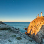 Sunrise at Cabo de Gata lighthouse