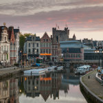 Dawn in Ghent Old Town