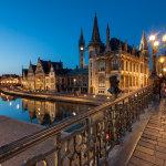 Night falls in Ghent