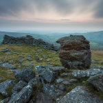 Moody dawn on Hound Tor