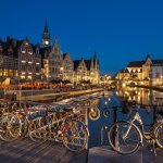 Evening in Ghent Old Town