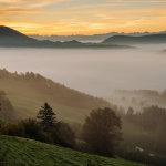 Dawn in Jura Mountains