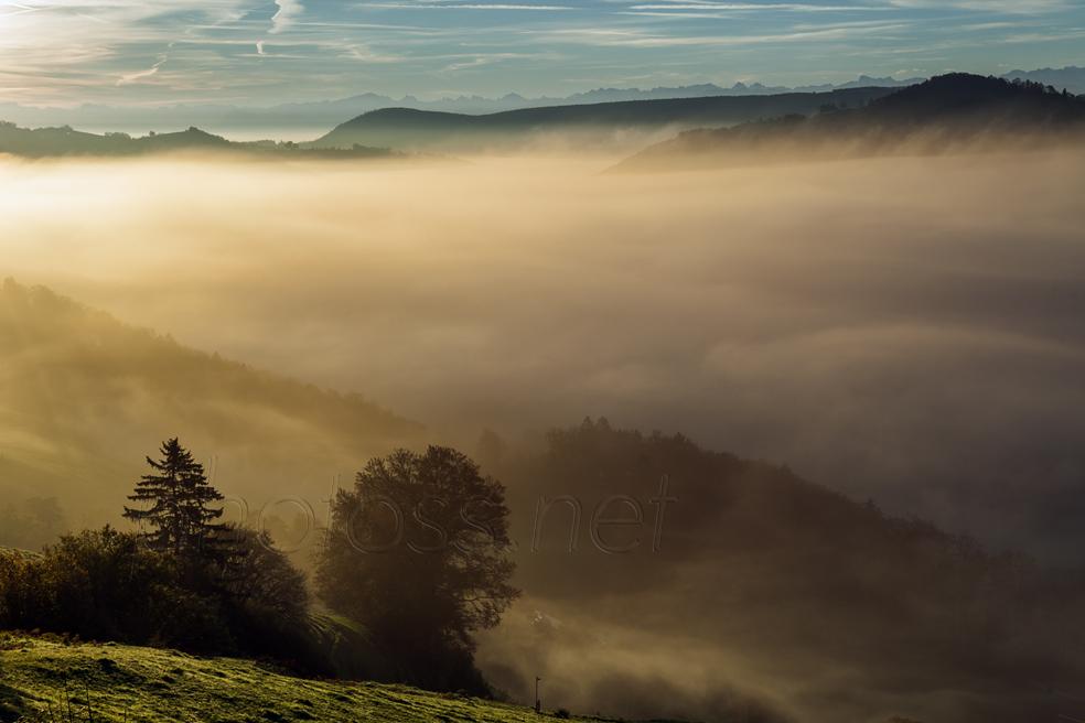 Sunrise in Jura Mountains