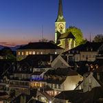 Night falls in Burgsdorf