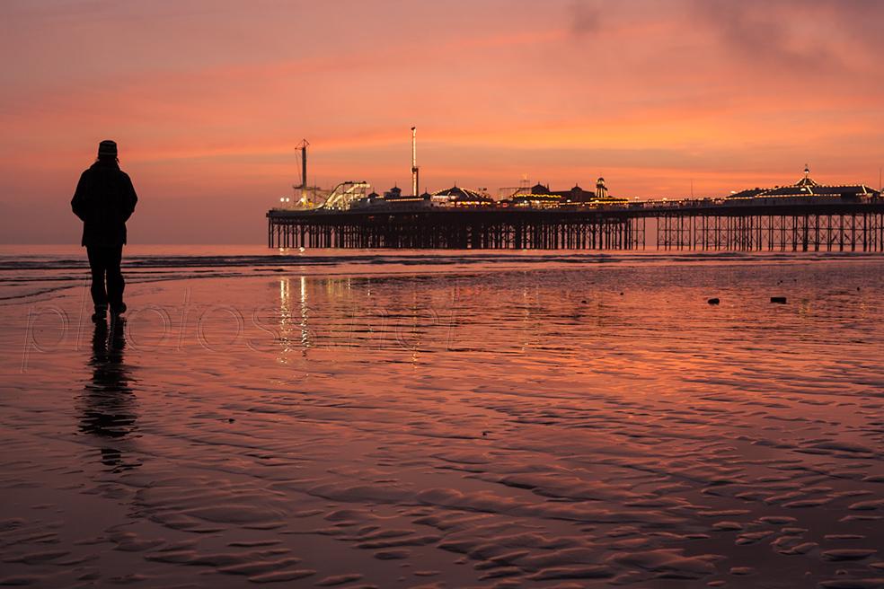 Twilight at Brighton Pier