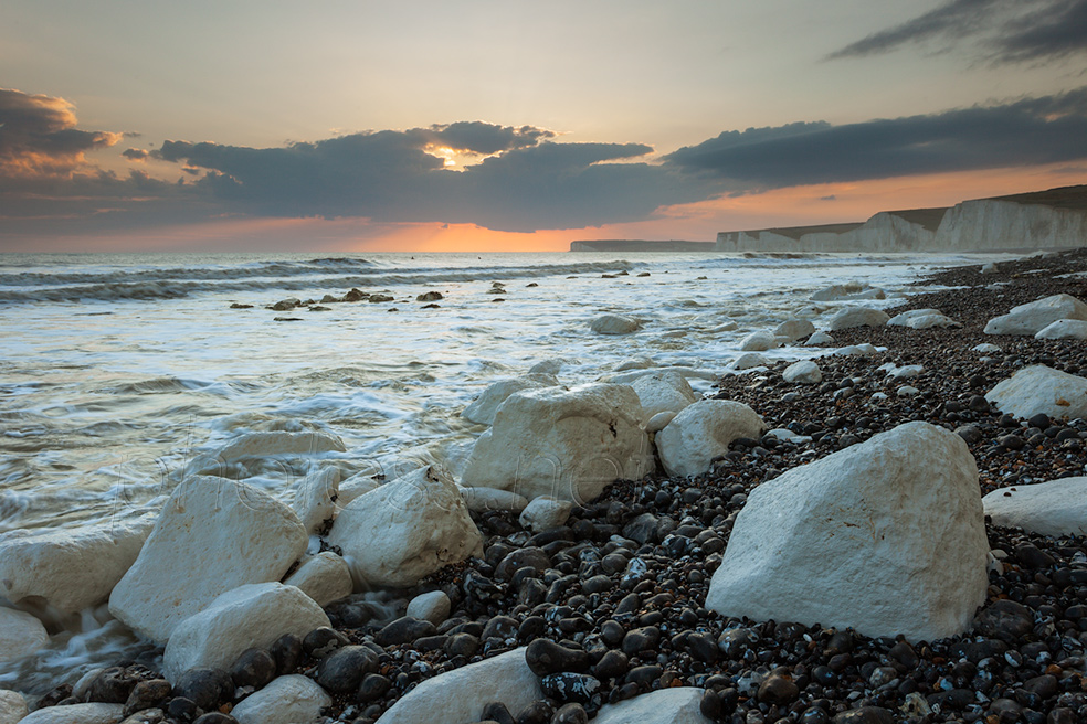 Spring evening at Birling Gap
