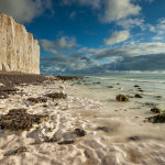 Sunny autumn afternoon at Birling Gap in East Sussex