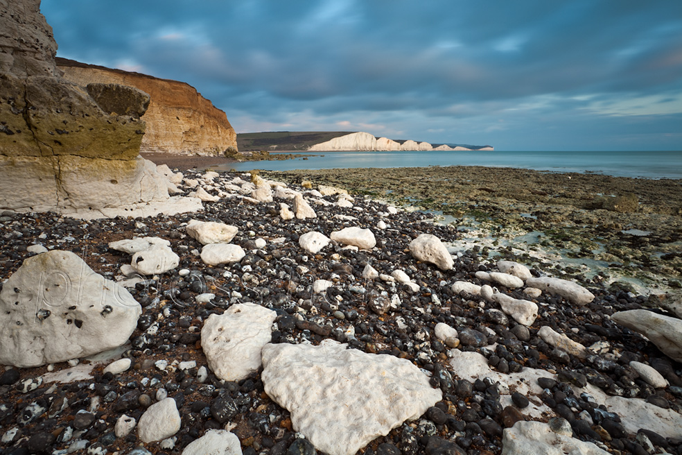 Winter evening at Hope Gap on the Sussex coast