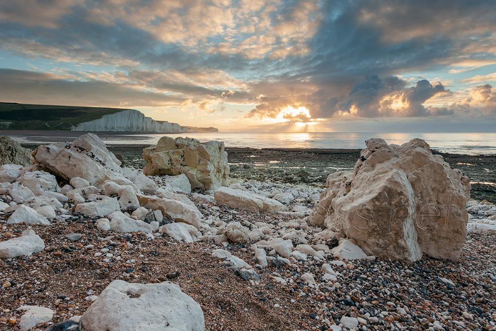 Sunrise at Hope Gap on the Sussex coast
