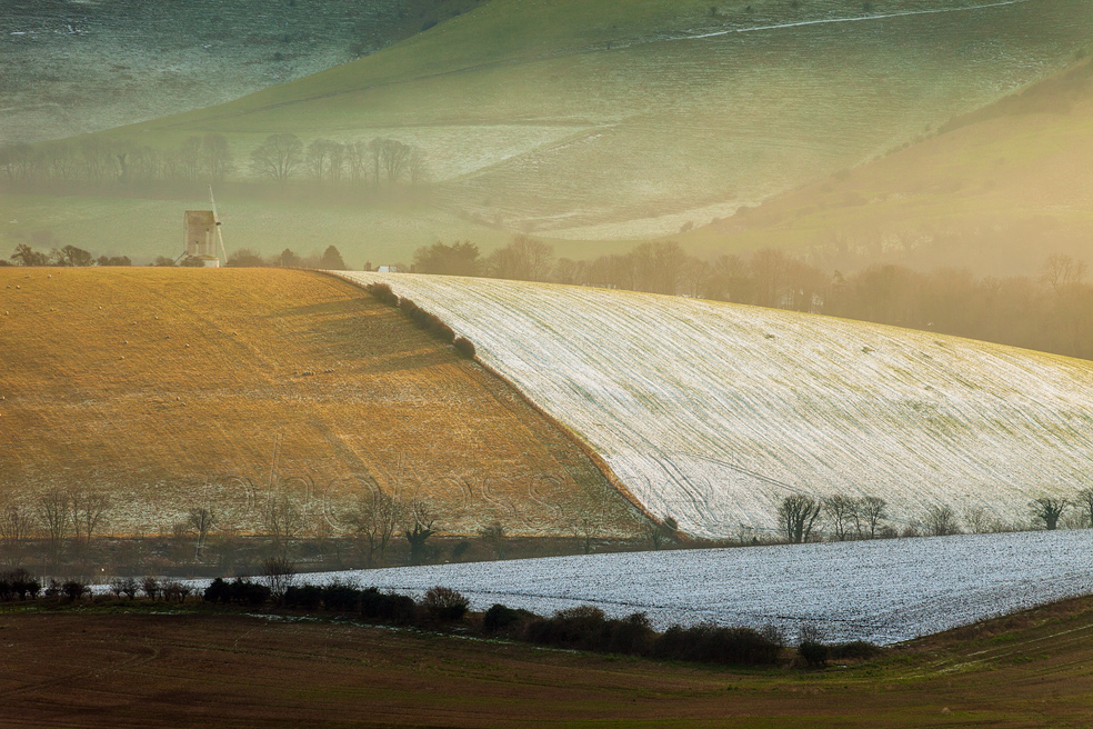 A pinch of snow on the South Downs in Sussex